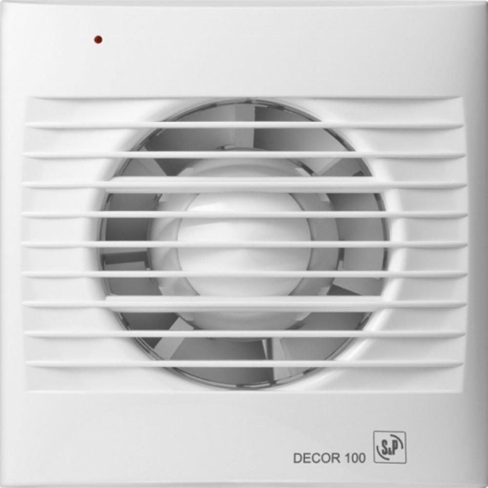 Осевой вентилятор для ванной Soler&Palau DECOR-100 С